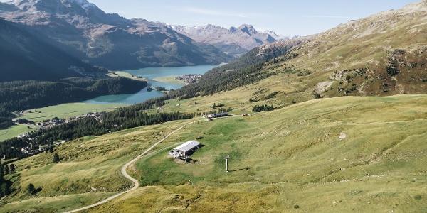 on Via Engiadina above St. Moritz