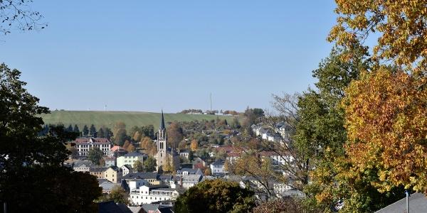 Blick auf Lengenfeld vom Park aus