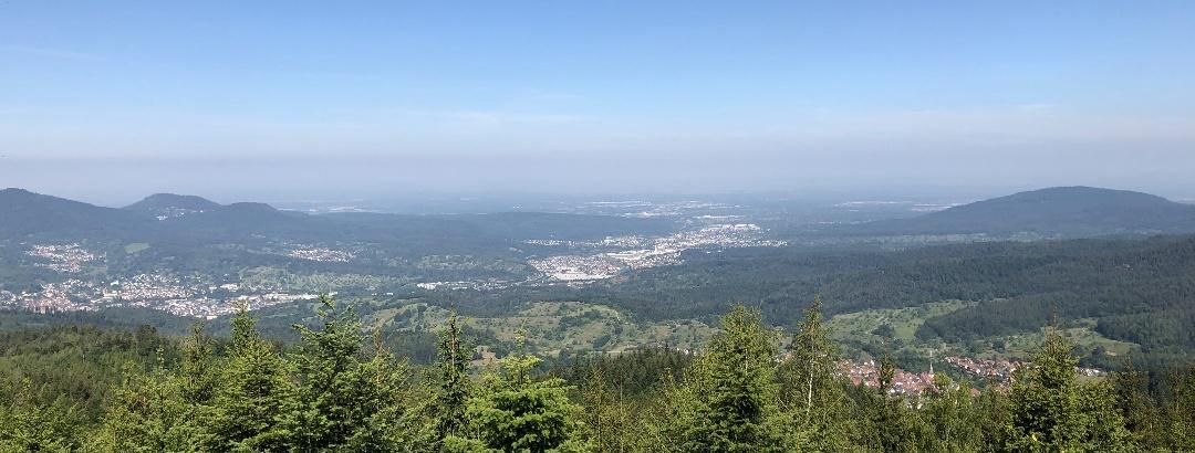 Ausblick von der Teufelsmühle (nicht vom Turm aus)