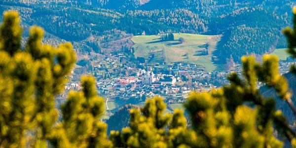 Ausblick vom Vorderen Zeller Hut auf Mariazell