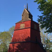 Klockstapeln vid Häverö kyrka
