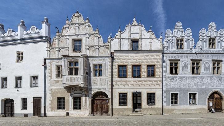 Renaissanchäuser in der Stadt Slavonice