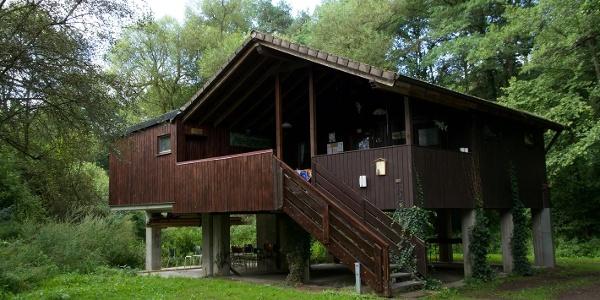 Oberbrombacher Fischerhütte am Nahesteig