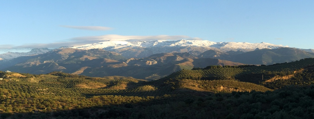 Sierra Nevada from Alqeuría de Fargue near Granada