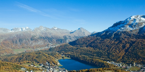 View down to St. Moritz