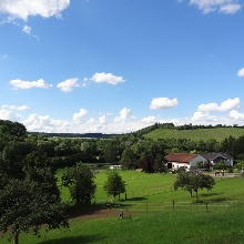Der Wanderweg bietet immer wieder schöne Aussichten auf die Weinberge rund um Zaberfeld.