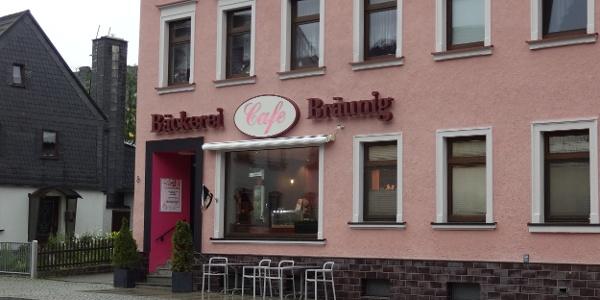 Bäckerei und Café Bräunig in Thomas-Mann-Str. 8, Ehrenfriedersdorf