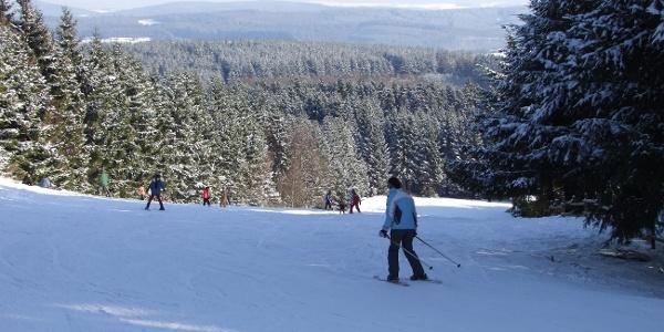 Wintersport am Schwarzen Mann