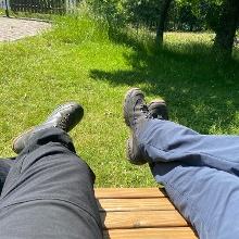 Waldsofa für Pausen reichlich vorhanden
