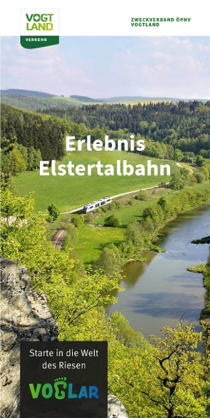 Faltkarte Erlebnis Elstertalbahn
