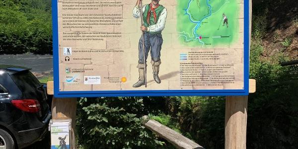 """Übersichtstafel - Wanderparkplatz """"Alte Schmelz"""""""