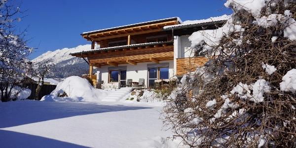 Haus Isser, Außenansicht Winter