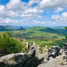 Blick von dem Gipfel der Affensteine
