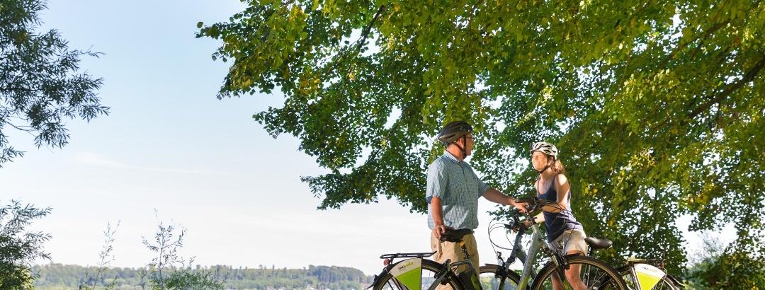 Radfahrer am Wiesensee