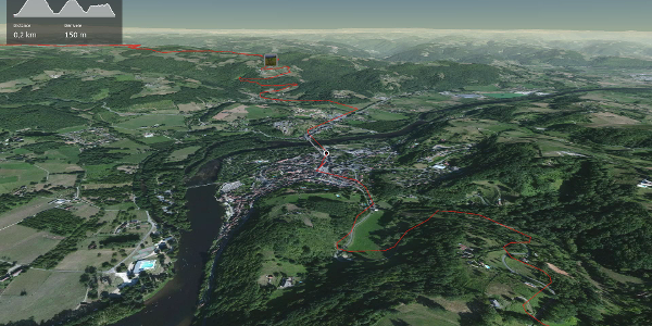 parcours vélo de route - Corrèze: Tour sur les hauteurs de la Dordogne depuis Beaulieu