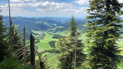 Aussicht vom Grat nach Escholzmatt