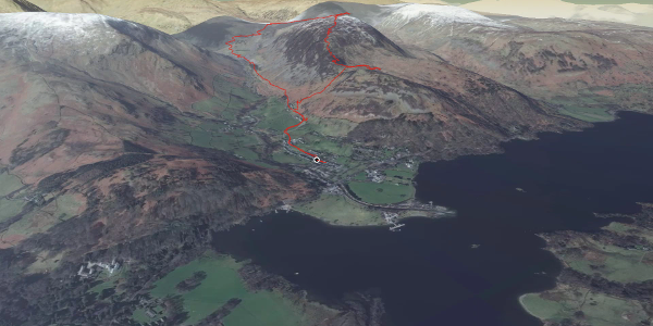 hike in Eden: Glenridding Dodd & Sheffeld Pike round route