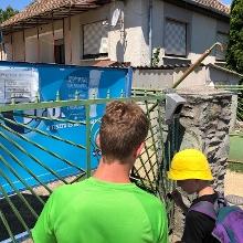 Kék túra pecsét az Anita oresszó keritésén található