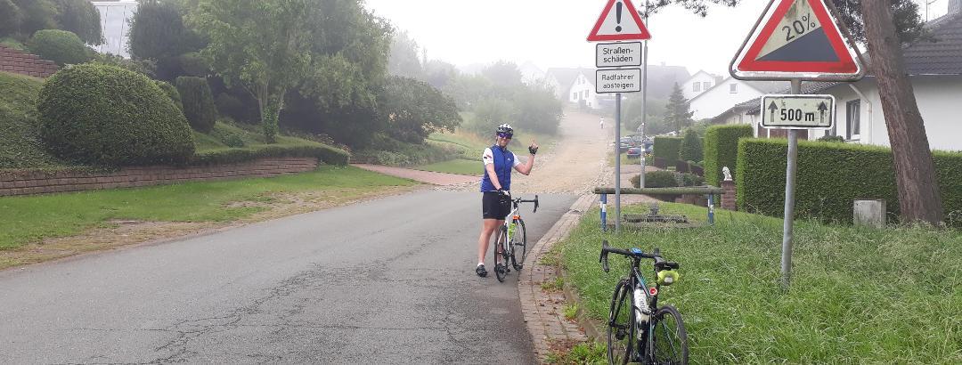 Hagneohnen: alleine für das Foto muss man schon vom Rad absteigen!