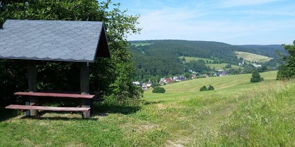 Kammweg -Blick ins Muldental in Rechenberg-Bienenmühle