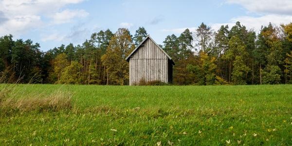 Eine einsame Hütte zwischen Zavelstein und Calw