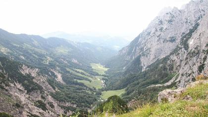 Blick vom Strippenjochhaus in das Kaiserbachtal