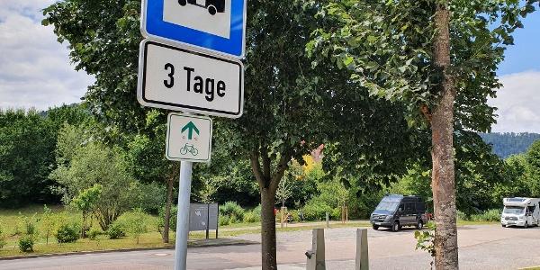 Wohnmobilstellplatz Hirsau_Parkschild