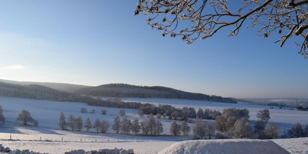 Winterlandschaft Zwönitz OT Dorfchemnitz