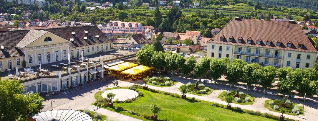 Oberer Kurpark mit Kurparkhotel in Bad Dürkheim