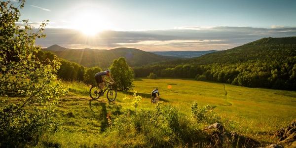 Biker im Naturpark Zittauer Gebirge