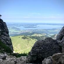 Nähe Gipfelkreuz Kampenwand - Chiemsee
