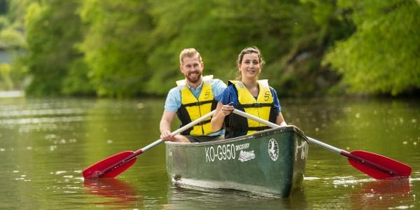 Mit dem Kanu auf der Lahn