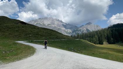 Auf dem Rückweg von Kallbrunnalm