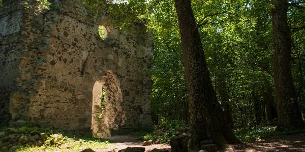 A gönci pálos kolostor romjai a XIV. századból a Kis-patak völgyében