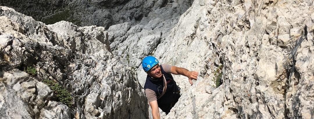 Andreas klettert die 4. SL