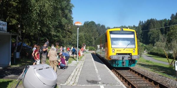 Start vom Bahnhof Gumpenried-Asbach