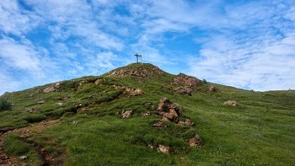 Blick auf den kurzen Anstieg zum Nösslachjoch nach der Bergstation