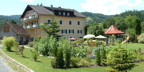 Ansicht von der Gartenseite des Hauses