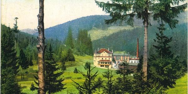 Historische Ansicht der Wolfner Mühle