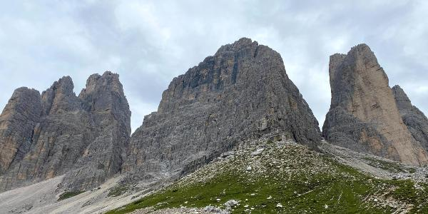 Back view of the three peaks
