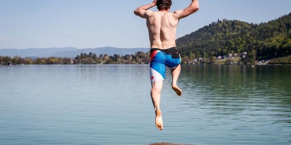 Abkühlung im Klopeiner See darf nicht fehlen