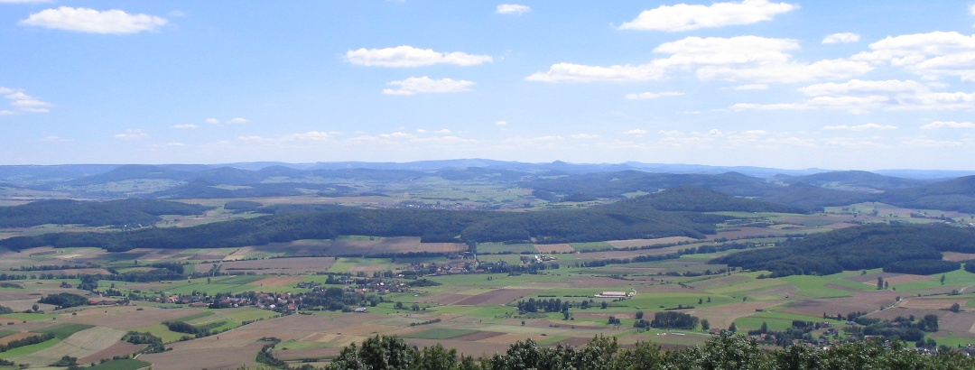View from the Soisberg into the Rhön Mountains in the south