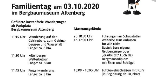 30Jahre Deutsche Einheit / Familientag am 3.10.2020