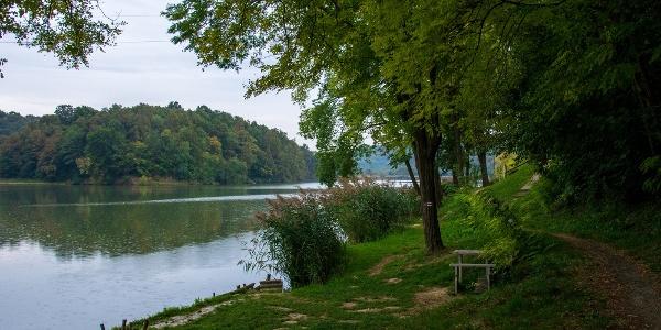 Horgászhely a Töröcskei-tó partján
