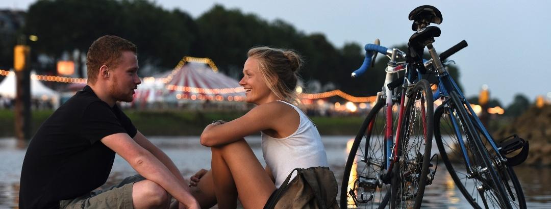 Bremen - Radfahrer Breminale
