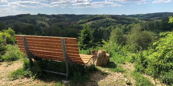 Aussichtspunkt mit Waldsofa und herrlichem Panorama