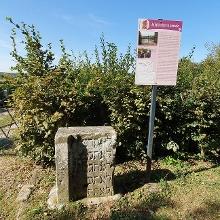 Der Jüdische Friedhof, der Weg dorthin mit  vielen (traurigen) Infotafeln gespickt.