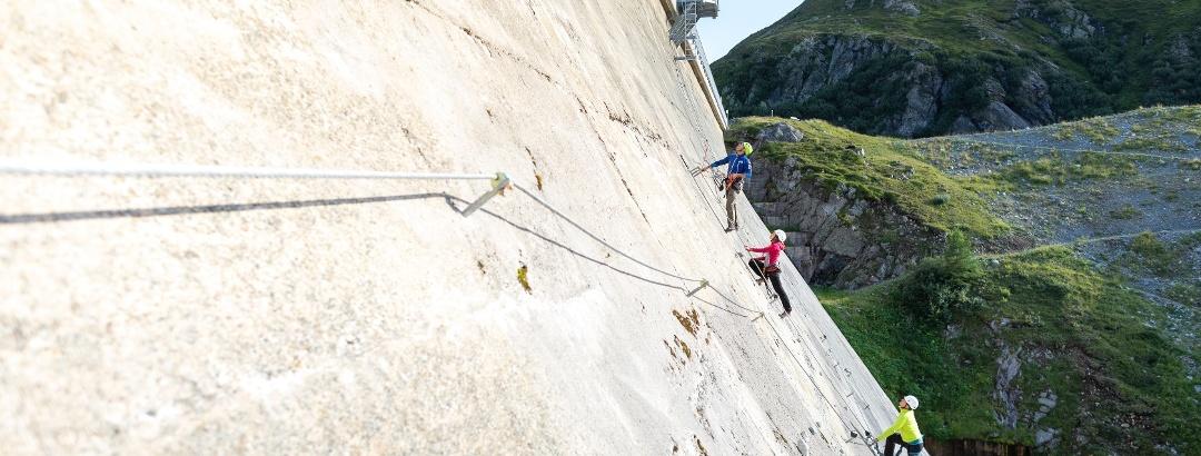 Klettersteig Staumauer-Klettersteig Silvrettasee