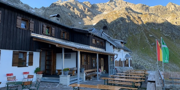 Angekommen bei der Tübinger Hütte