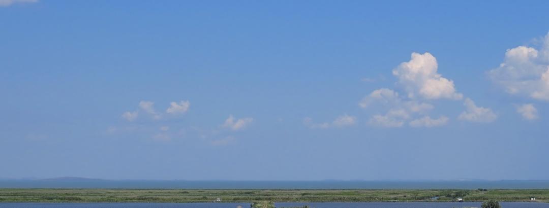 A view from Enisala towards lake Razelm, the ancient Halmyris gulf.